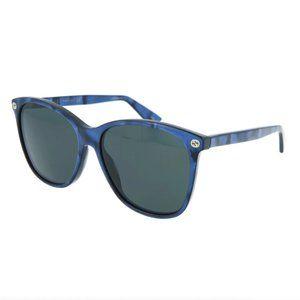 Rare! Gucci Blue Crystal Round Frame Sunglasses